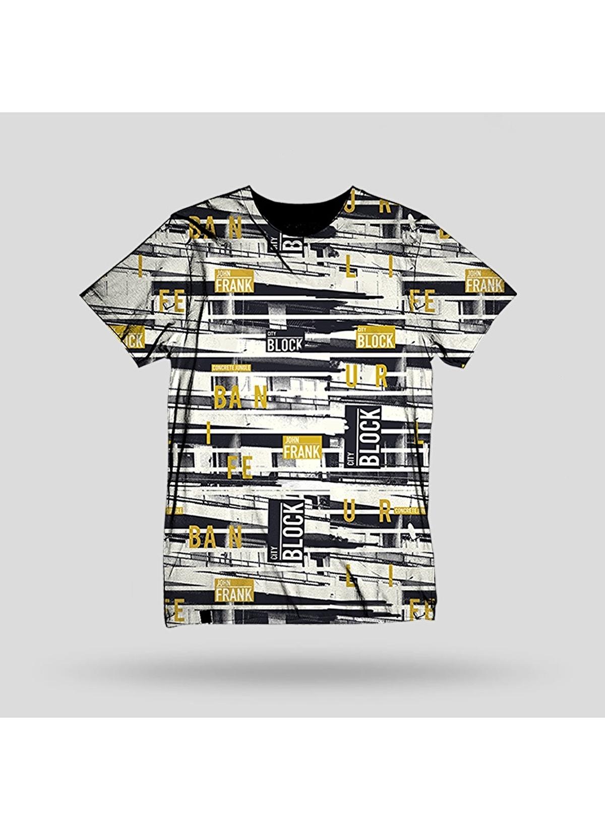 John Frank Tişört Jftd35-block Baskılı Dijital T-shirt – 79.99 TL